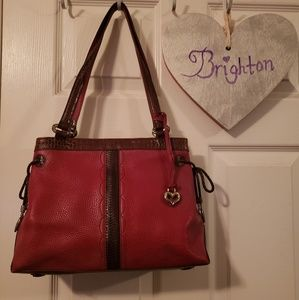 Brighton red leather purse